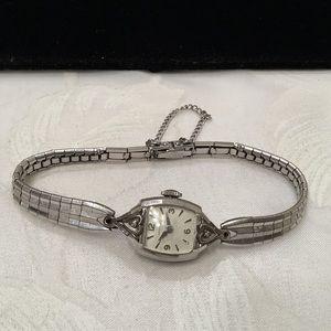 Vintage 17J Hamilton With Diamonds Ladies Watch